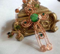 Wire Wrap Celtic Cross in Copper by flightfancy on Etsy, $48.00