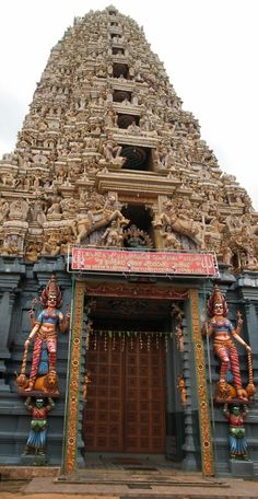 Hindu temple in Matale, Sri Lanka .