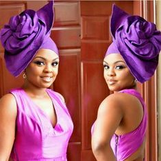 Avant garde gele's are here to stay! They are refreshing and modern twists to the commonly worn 'gele' on natives. Gele form a major style fixture for modern traditional looks… African Head Scarf, African Hats, African Head Wraps, African Attire, African Wear, African Fashion Dresses, African Women, African Dress, Ethno Style