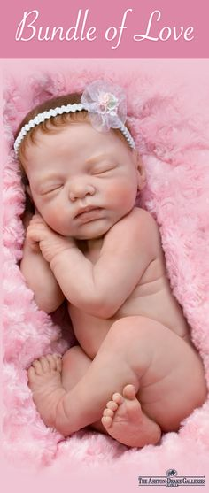 Isn't she just a bundle of love? This lifelike baby doll by Master Doll Artist Marita Winters is entirely sculpted to capture the tender beauty of an infant just a few weeks old, cuddled up in blissful sleep. Every wrinkle, every crease, is handcrafted of soft, RealTouch vinyl and she's even weighted to feel like an actual newborn in your arms. Order her today!