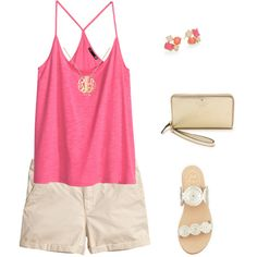Get me to 200 quickly!!!! by prestobowsandkeys on Polyvore featuring polyvore, fashion, style, H&M, Jack Rogers, Kate Spade and Ginette NY