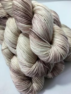 Driftwood - Hand-dyed 4ply Yanadick Merino & Silk Twist yarn by YanTanTetheraYarns on Etsy