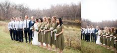 Bridal Party at a beautiful fall wedding | photographed by Winnipeg Wedding Photographer Keila Marie Photography