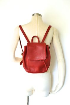 Vintage COACH Red Leather Small Day Bag by RebootVintage on Etsy... but in black