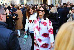 MSGM Lips Viviana Volpicella Street Style