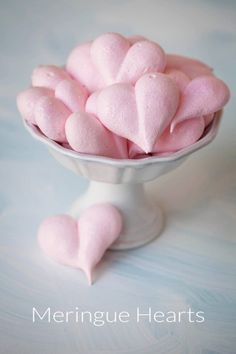 """Meringue Heart Cookies say """"I love you"""" any time of the year. Recipe and tutorial."""
