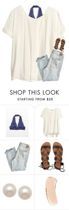 """""""any girl like you deserves a gentleman <333"""" by classynsouthern ❤ liked on Polyvore featuring Free People, H&M, American Eagle Outfitters, Billabong, Honora, Bobbi Brown Cosmetics and Kendra Scott"""