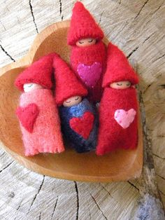 Valentine's Day Gnome Babies, http://www.etsy.com/shop/MamaWestWind by MamaWestWind, via Flickr