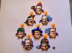 All 8 moogles from that one encounter in Final Fantasy XIV. The sprite designs were requested by a friend as part of a. Beaded Cross Stitch, Cross Stitch Patterns, Perler Beads, Beading Patterns, Pixel Art, Knit Crochet, Deviantart, Knitting, Artwork