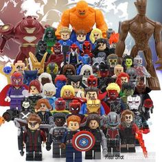 2016 Marvel The Avengers Minifigures Fantastic 4 Guardians of the Galaxy X-Men…