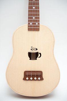 Items similar to Ukulele (customizable sound hole of choice) Example: coffee cup on Etsy Ukulele Instrument, Ukulele Chords, Music Guitar, Acoustic Guitar, Cool Ukulele, Ukelele, Painted Ukulele, Ukulele Design, Unique Guitars