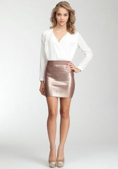 bebe Sequin Bandage Skirt Sweaters Chocolate-m coupon| gamesinfomation.com