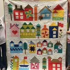 """""""Be My Neighbor"""" will be the next free weekly quilt pattern available on my…"""