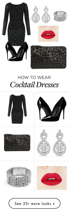 """New year outfit"" by minnie88 on Polyvore featuring Aidan Mattox, Allurez, GUESS and Dolce&Gabbana"