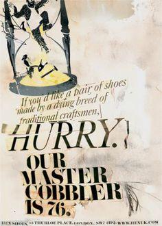 Read more: https://www.luerzersarchive.com/en/magazine/print-detail/hen-shoes-london-34593.html Hen shoes, London Campaign for Hen brand shoes. Tags: Abbott Mead Vickers (AMV) BBDO, London,Nils Leonard,Opcode Interactive, Palo Alto,Jolyon Finch,Stephen Moss,Hen shoes, London