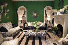 Fall in love with green..blog....How to incorporate green into your home.