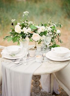 Intimate + ethereal wedding table decor: http://www.stylemepretty.com/canada-weddings/british-columbia/vancouver/2015/11/06/ethereal-greek-goddess-inspired-wedding-editorial/ | Photography: Vasia - http://www.vasia-weddings.com/