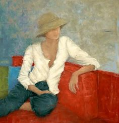 Fifties With A Point Of View   38 x 36      Giclee on Canvas   By Erica Hopper