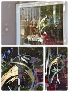 hübscher Washi-Tape Vogel: hamburgvoninnen_milchmädchen_schaufenster