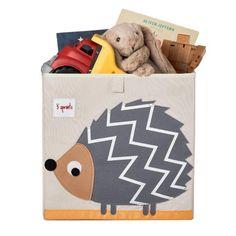 3 Sprouts Grey Hedgehog Storage Box Kiddicare.com
