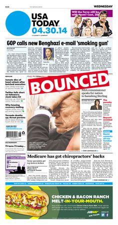 "USA Today leads with ""...Benghazi e-mail 'smoking gun'"""