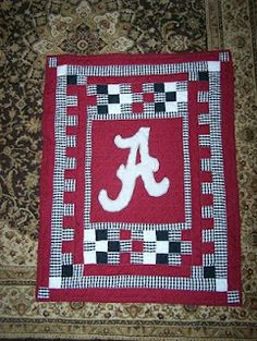 justbyme: Search results for Alabama Quilt Quilting Tips, Quilting Tutorials, Quilting Projects, Man Quilt, Boy Quilts, Crimson Tide Football, Alabama Football, Alabama Crimson, College Football