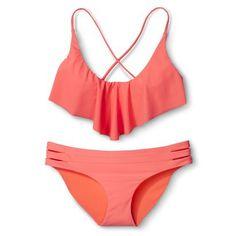 Xhilaration® Junior's Mix and Match 2-Piece Swimsuit -Pink
