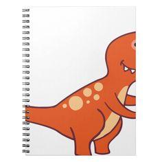 Tyrannosaurus Rex Notebook Custom office supplies #business #logo #branding