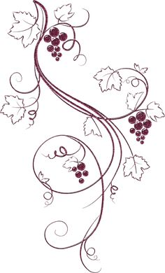 ideas for drawing flowers doodles swirls Grape Drawing, Vine Drawing, Drawing Flowers, Wood Burning Crafts, Wood Burning Patterns, Embroidery Patterns, Hand Embroidery, Vine Tattoos, Illustration Sketches