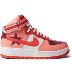 new products e8d56 11bad Riccardo Tisci Air Force 1 Leather High-Top Sneakers   MR PORTER Air Force 1