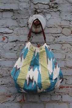 Boho ikat bag. $44. perfect for trip to beach or flea market exploring. Via bomisch.com