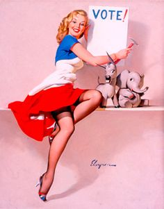 "/""Stocking Stuffer/"" Vintage Style Elvgren Christmas Pin-Up Poster 16x20"