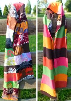 Image detail for -Scarves repurposed from T-shirts. It's nothing new. It's been done ...