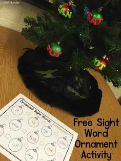 Sight word ornament