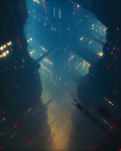 A genre of science fiction and a lawless subculture in an oppressive society dominated by computer technology and big corporations. Cyberpunk City, Cyberpunk Kunst, Cyberpunk Aesthetic, Futuristic City, City Aesthetic, Future City, Fantasy World, Fantasy Art, Sci Fi Stadt