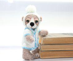 Tosha  Artist Teddy Bear / Hand Crochet and Felted Bear by TaniaSh