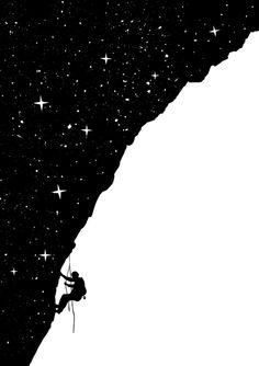 Poster | NIGHT CLIMBING von Balazs Solti