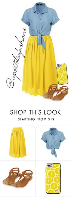 """""""Apostolic Fashions #1380"""" by apostolicfashions on Polyvore featuring LE3NO, Topshop and Casetify"""