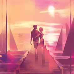 Mads Berg's soft, elegant low-poly art will have you wishing for a holiday.