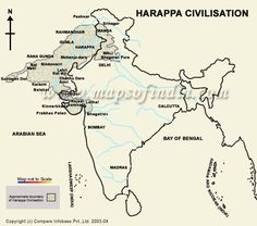 harappa civilization .bmp (560×494) Ancient Map, Ancient Indian History, Ancient World History, India World Map, India Map, India Travel, Geography Map, Teaching Geography, Gernal Knowledge
