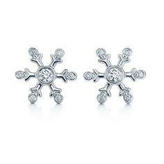 Tiffany & Co Snowflake Diamond Earrings