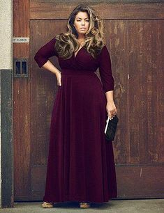 Amazing Eggplant Plus Size Cocktail Dresses at Love's Original! Ton's of stylish looks to get you through the Holiday Season looking and feeling fabulous!