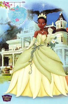 Disney Princess Photo: Princess Tiana-The princess and the frog Disney Pixar, Walt Disney Princesses, Disney Animation, Disney Art, Disney Characters, Disney Frog Princess, Disney Princesa Tiana, Princesas Disney, Princess Theme