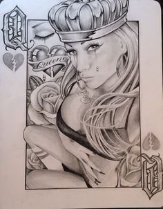 Boog Star made this Chicano ARt Chicano Art Tattoos, Chicano Drawings, Gangsta Tattoos, Body Art Tattoos, Tattoo Drawings, Art Drawings, Chicano Love, Cholo Art, Prison Art