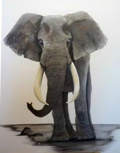 Les Oeuvres, Elephant, Animals, Oil On Canvas, Animales, Animaux, Elephants, Animal, Animais