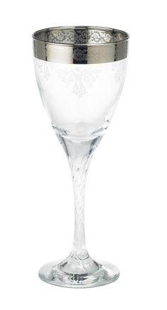 """""""Twist"""" red wine glass by Lisbeth Dahl Copenhagen Autumn/Winter 13. #LisbethDahlCph #Winter #Twist #Silver #Red #Wine #Glass #Kitchen"""
