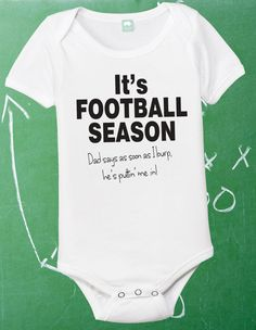 Football Onesie Infant Football Shirt Baby by FunhouseTshirts, $13.99