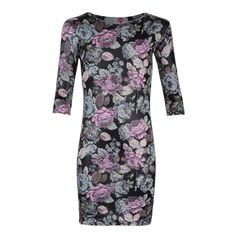 NEW Girls Winter Floral Print Midi/Bodycon Dress Ages 7-8, 9-10, 11-12, 13 Years
