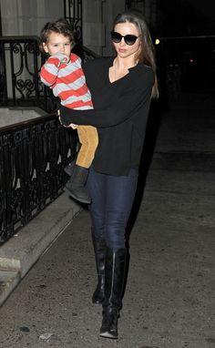 Miranda Kerr is such a chic mom!