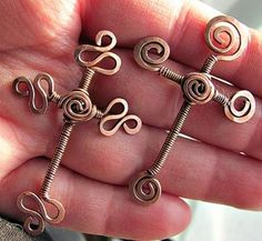 I love these Copper Wrapped wire Crosses.